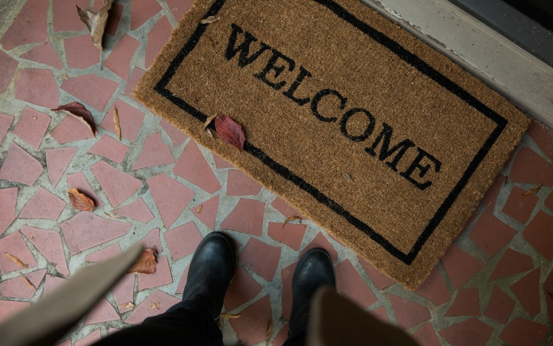 Autonomy First lawyers do house calls - symbolised by welcome mat