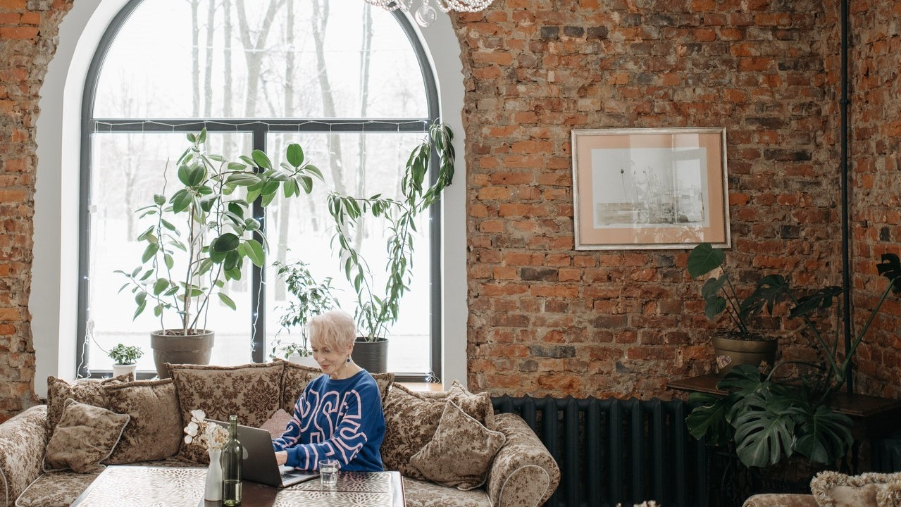 Older Persons Mental Health depicted with older woman on her own